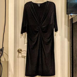 3/4 sleeve Midi Black Dress